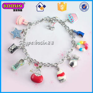 China Factory Silver Color Custom Charm Bracelet Jewelry Wholesale pictures & photos