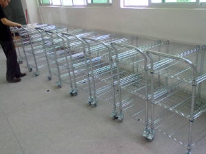 NSF Heavy Duty Adjustbale Metal Wire Hand Cart Trolley for Commercial Used pictures & photos