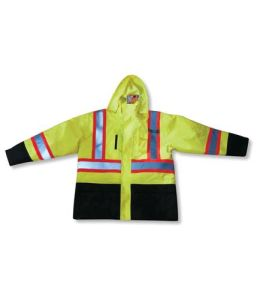 Polyester Waterproof Lime Rain Jacket pictures & photos