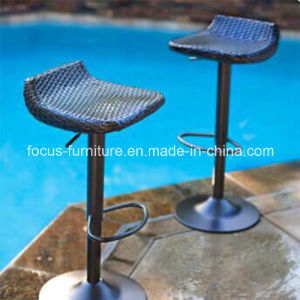 Black Outdoor Swivel Dining Garden Patio Rattan Bar Stool (FS-WBS003) pictures & photos