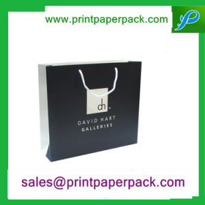 Custom Printed Black Luxury Paper Gift Cosmetic Shopping Bag pictures & photos