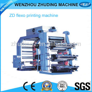 Made in China High Quality Cheap Price Roll to Roll 4colour Flexo Printing Machine pictures & photos