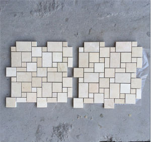 French Pattern Beige Mosaic Tile for Bathroom pictures & photos