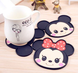 Promotion Gift PVC Mat Silicone Coasters for Cup pictures & photos