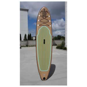 Wood Color Drop Stitch Yoga Board pictures & photos