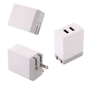 5V 4.2A Dual USB Wall Charger Power Adapter Foldable Plug pictures & photos