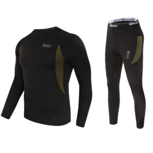 Outdoor Sports Thermal Mens Underwear Suits Esdy Same Model Underwear Black pictures & photos