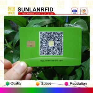 ISO7816 Protocal Hotel Key Access Control Contact Smart IC Card Sle4428 Sle4442 FM4442 FM4428 with Magnetic Stripe pictures & photos