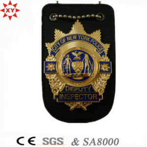 Custom Leather and Metal Police Badge for Us pictures & photos
