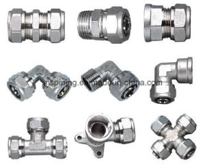 Brass Compression Fitting for Water Supply/ Gas Distribution pictures & photos