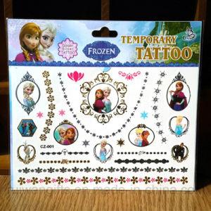 Wholsesale Golden Silver Temporary Tattoo Sticker in Cartoon Frozen Flash Tattoo pictures & photos