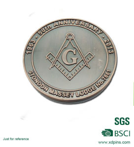 Customized Metal Masonic Logo Challenge Coins for Promotion Gift pictures & photos