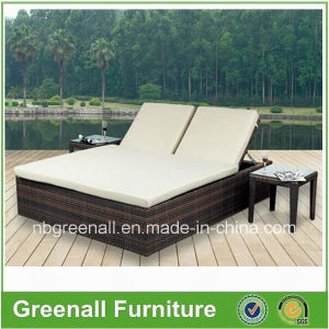 Modern Outdoor Leisure Garden Furniture Double-Bed pictures & photos