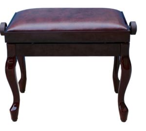 High Grade Luxury Wooden Adjustable Piano Bench, Piano Stool with Leather Cushion