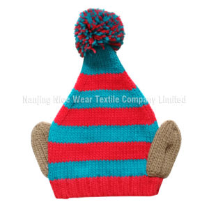 Fashion Christmas Warm Knitted Hat with Pompon