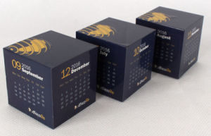 Promotional Gift Plastic Magnet Calendar Rubik′s Puzzle Magic Cube pictures & photos