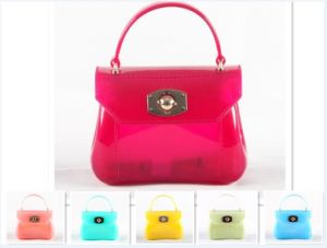 Guangzhou Suppliers Mini Jelly Bag Neoprene Handbag Lock of Candy Bag (J-897)