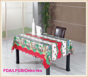 New Designs PVC Printed Christmastable Cloth (TJ0762) pictures & photos