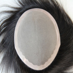Remy Human Hair Toupee with Thin Skin Base pictures & photos