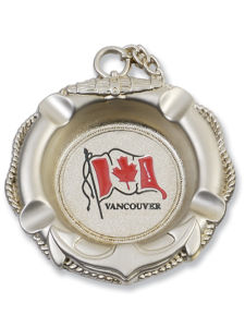 Round Souvenir Ashtray with Canada Flag (AT422) pictures & photos