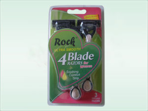 Four Blade Disposable Razor (KD-B4028L For Ladies) pictures & photos