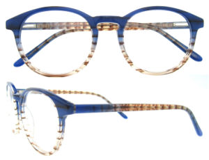Fashion Lovely Round Designed Acetate Eyeglass Frame for Ladies pictures & photos