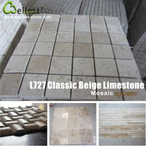 Classic Beige Limestone Mosaic/French Pattern pictures & photos