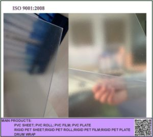 Matt Transparent PVC Rigid Sheet pictures & photos