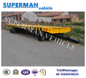 Tri Axle Utility Low Loader Cargo Dolly Semi Trailer pictures & photos