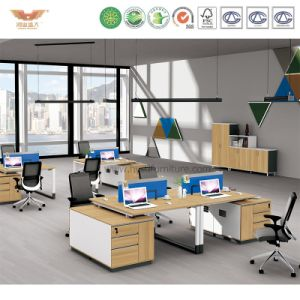 Modern Office Workstation Partition Cubicles with Side Cabinet (H90-0214) pictures & photos