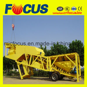 High Quality Professional Mobile Concrete Batching Plant Yhzs75 pictures & photos