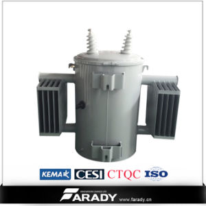 13.2kv 7.62kv 75kVA Oil Type of Pole Mounted Distribution Transformer pictures & photos