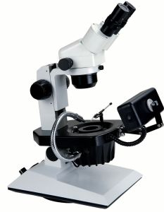 Hzb-2-B 6.7X-45X Trinocular Jewelry Zoom Stereo Microscope pictures & photos