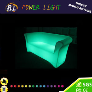 Patio Sofa 2 Seater Waterproof LED Lighted Plastic Sofa pictures & photos