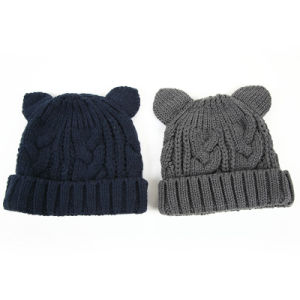 Vintage Kids Winter Knitted Hats pictures & photos