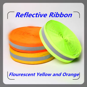 Flourecent Fire Proof Reflective Warning Tape with Ce Certificate (V6502B) pictures & photos