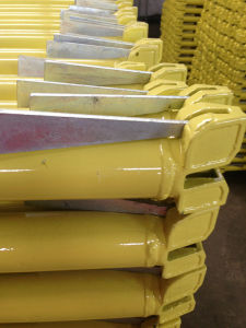 Yellow Painted Ringlock System Scaffolding Ledger for Construction Project pictures & photos