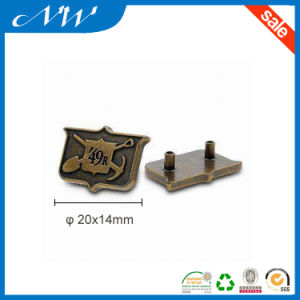 Alloy Metal Label with Back Plate Available in Anti-Brass Color pictures & photos
