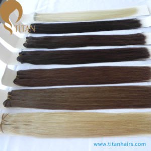 Correct Cuticle Straight Virgin Remy Human Hair Weft pictures & photos