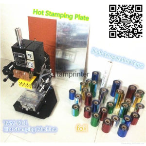 Tam-90-1 Small Craft Leather Paper and Plastic Hot Foil Stamping Machine pictures & photos