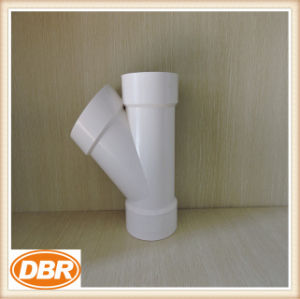 4 Inch Size Wye Type PVC Fitting