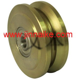 Motor Gate Wheel with Y Groove, Double Bearings pictures & photos