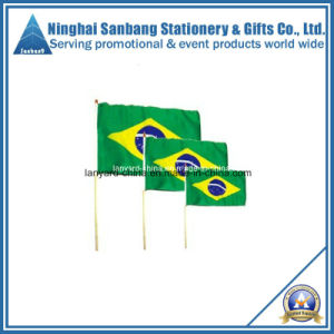 Promotion Polyester Hand Flag with Plastic Pole