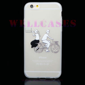 DIY Frotsted TPU Phone Case Embossed with Strap for iPhone 6/6plus pictures & photos
