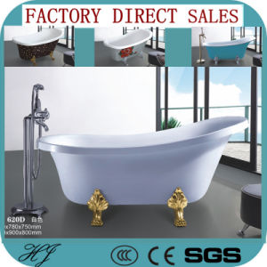 Factory Outlet Hot Sales Acrylic Soaking Bathtub (620D) pictures & photos
