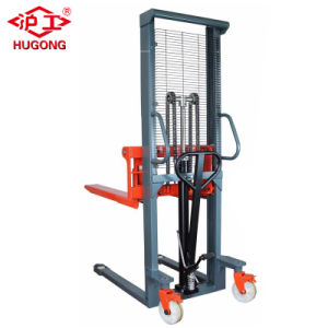 Quick Lifting 1 Ton Manual Hydraulic Platform Stacker pictures & photos