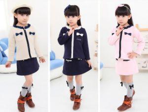 2015 Autumn 2 Pieces Skirt Suit with Bow 3 Colors pictures & photos
