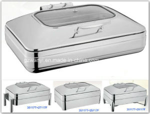 Full Size Induction Chafing Dish with 8.5L Food Pan (35117T) pictures & photos