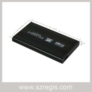Aluminum Shell Plastic Plug HDD Enclosure Support Notebook Hard Drive Case pictures & photos