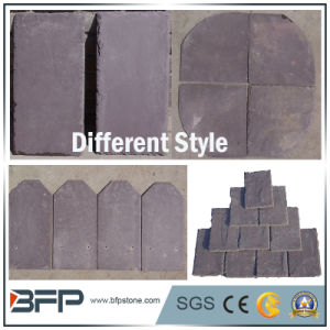Natural Grey/Black Roofing Slate Roof Tile High Temperature Resistance pictures & photos